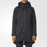 adidas 阿迪达斯 BS0991 女士户外防风羽绒服 黑色