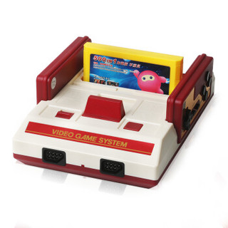 小霸王 D99增强版 游戏机+有线双手柄 红白