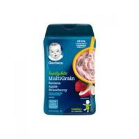 美国原装进口 嘉宝Gerber  米粉婴儿米糊 宝宝辅食  高铁香蕉苹果草莓混合谷物米粉四段227g *6件