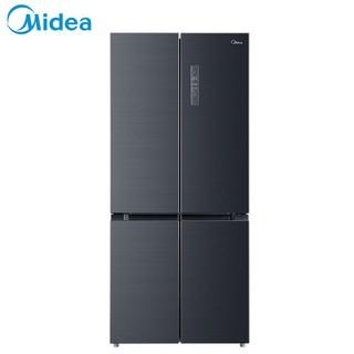 美的(Midea)BCD-507WTPZM(E)507升十字对开门 19分钟急速净味 智能杀菌 节能变频风冷无霜家用冰箱