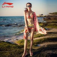 李宁游游衣女款2020新款比基尼三件套