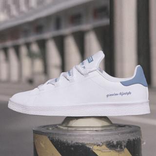 乔丹 男鞋板鞋小白鞋休闲鞋运动鞋男 XM2580311 白色/水洗蓝 40