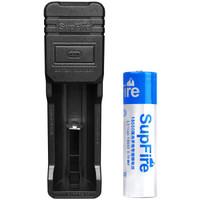 神火(supfire)智能USB多规格充电器+18650蓝电池套装 强光手电筒专用可充电池充电器 26650等适用AC16-L1