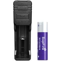 神火(supfire)智能USB多规格充电器+18650加板紫电池 强光手电筒专用可充电池充电器 26650等适用AC16-ZB1
