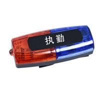 先鋒連充電式紅藍雙面保安肩燈LED爆閃肩夾式夜間閃光器安全警示安全燈雙排執勤巡邏信號燈 執勤肩燈