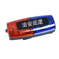 先鋒連充電式紅藍雙面保安肩燈LED爆閃肩夾式夜間閃光器安全警示安全燈雙排執勤巡邏信號燈 治安巡邏款