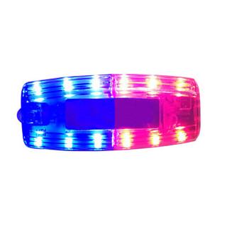 丛林狐  红蓝双排肩灯LED爆闪保安肩夹式夜间闪光器安全警示安全灯执勤巡逻信号灯 治安巡逻