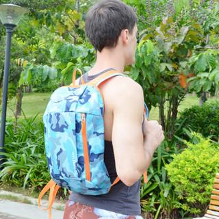 WELLHOUSE 背包 户外双肩包迷彩学生包旅行包骑行包男女休闲包小包迷彩蓝色