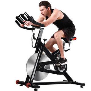 蓝堡动感单车家用室内静音运动健身器材健身房健身自行车健身车LD-568 黑色-智能款