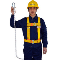Golmud 电工安全带工地高空作业施工户外全身攀岩登山保险带建筑腰带绳子T1黄色1.8米