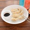 克来比 饺子盘带醋碟家用水饺盘子圆形水果盘双层沥水盘餐具碟子 KLB1138 大号