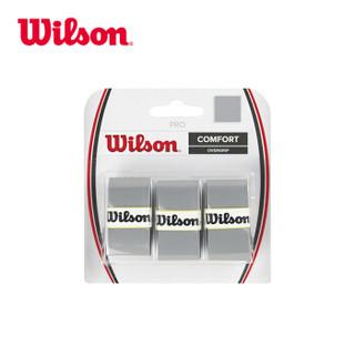威尔胜 Wilson 网球吸汗带 干性黏性握柄把皮网球拍配件 WRZ4014SI
