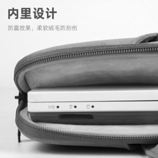 KAMLUI K笔记本电脑包15.6英寸女士手提包 戴尔联想华硕电脑内胆包防震 小米pro笔记本包皮质 ST06-15深空灰