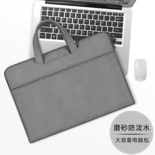 KAMLUI K苹果电脑包13.3英寸 时尚可爱女生手提macbook air/pro内胆包XPS13小米air笔记本包 ST06-13深空灰