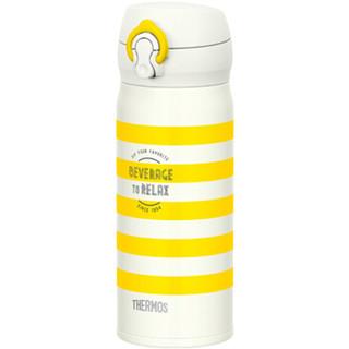 THERMOS 膳魔师 JNL-403 YBD 304不锈钢保温杯 400ml 黄色条纹