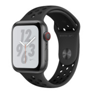 Apple 苹果 Watch系列 Watch Series 4 Nike GPS+蜂窝款 智能手表 44mm 深空灰 黑色硅胶表带 16GB(ECG、GPS、北斗、扬声器、温度计)
