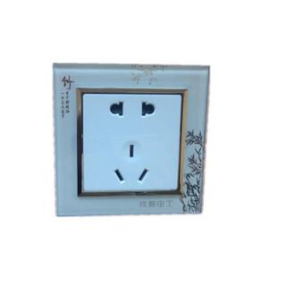 铁狮墙壁暗装五孔插座 5孔10A电源面板 暗装五眼 二三插86型五孔插座 两只装