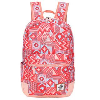 探路者(TOREAD)户外女款20升双肩印花双层口袋背包ZEBF80910 桃芽粉印花 20升以下