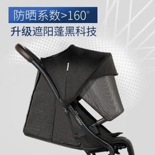 B-BEKO英国婴儿推车可坐可躺轻便折叠伞车可上飞机0-3岁高景观婴儿车宝宝推车避震 炫酷黑(3代升级款)