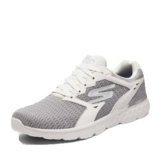 斯凯奇(Skechers)休闲鞋 男款轻质绑带跑步简约时尚 55293 WGY白色 39.5
