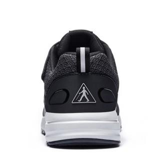 足力健 老人鞋男女散步减震舒适爸爸妈妈运动休闲健步软底 ZLJ7709 男款(黑色) 42