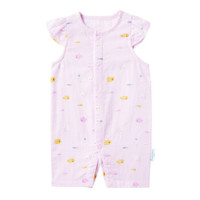 PurCotton 全棉时代 婴儿纱布无袖连体衣