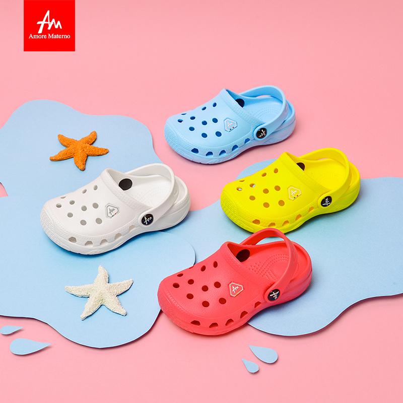 Amore Materno 爱慕玛蒂诺 儿童拖鞋宝宝洞洞鞋 5350 柠檬黄 10码