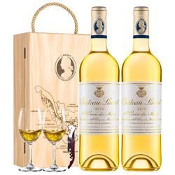 劳雷特酒庄副牌贵腐甜白葡萄酒 750mL*2瓶 双支礼盒装 法国原瓶进口波尔多 *3件