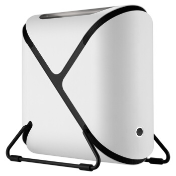 BitFenix火鸟 波特星 白色 电脑机箱 异形结构/铝制曲面/顶部透彻/支持ITX主板、SFX电源/双U3/标配2把风扇