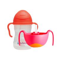 b.box 儿童重力水杯(新款)+三合一碗吸管辅食碗套装 *2件