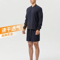 迪卡侬短裤运动男速干宽松透气大码健身篮球跑步休闲套装训练FICM