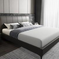 SLEEMON 喜临门 奥卡 现代简约皮床+床垫组合 180*200cm