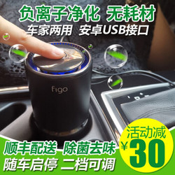 Figo 车载空气净化器除烟去味 化学分解无耗材