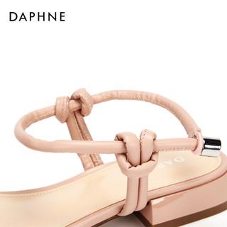 Daphne 达芙妮 1018303048  女士平底凉鞋