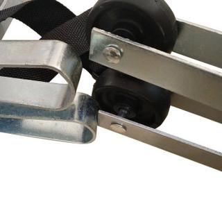 丛林狐 担架折叠多功能加厚不锈钢简易担架床家用车急救   蓝色布不锈钢款