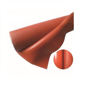 聚远 JUYUAN 耐高温硅胶涂层玻璃纤维防火布 阻燃硅胶布 电焊遮光卷帘布 1*50米 0.3mm厚 2卷装