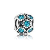 PANDORA 潘多拉 791296MCZ 蓝绿色水晶镶嵌镂空串珠