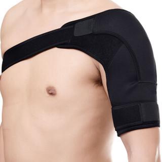 李宁 LI-NING 可调节运动护肩 加压保暖护肩男女士防脱臼护肩 左肩均码黑色174-2加厚材质