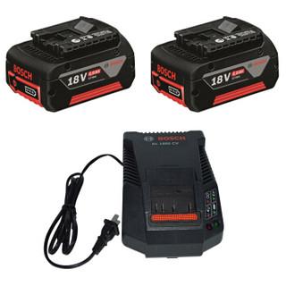 博世Bosch18V电池充电器套装配18V充电式锂电工具 18V/4.0Ah套装【2电池1充电器】1 600 A00 1B5现货
