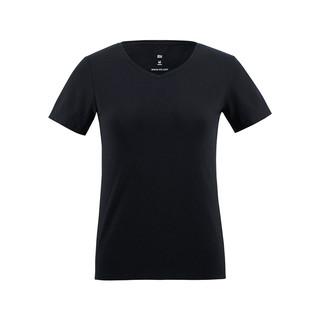 MI 小米 女款 V领短袖T恤 (黑色、S)