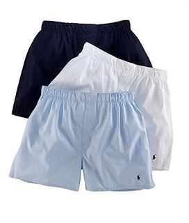POLO RALPH LAUREN 男士梭织平角内裤 3件装
