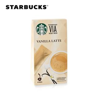 STARBUCKS 星巴克 VIA免煮咖啡 香草拿铁风味 4支装