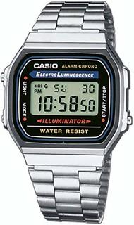 Casio 卡西欧 A168W-1 男士不锈钢电子表
