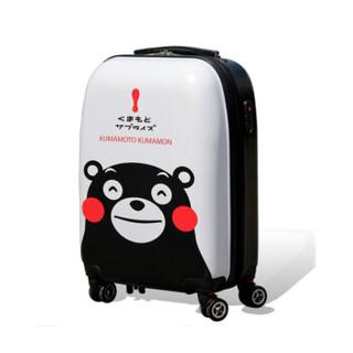 KUMAMON 酷MA萌 双人旅行箱行李箱 白/黑色 24寸