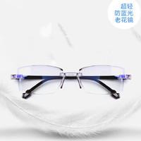 (芭薩奴) 德國老花鏡 男女通用抗疲勞防藍光多功能老花眼鏡100-400度自動變焦智能老花鏡