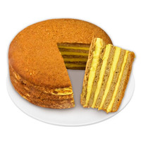 优素  俄罗斯风味提拉米苏千层蛋糕 奶油原味 450g *2件 +凑单品