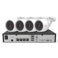 海康威视萤石200万POE监控设备套装X5S+C3T 4路6T硬盘 4台1080P家用商用高清摄像头系统监控器