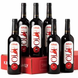 法国原瓶进口红酒 卡伯纳小红鸟U+I系列干红葡萄酒750ml*6支整箱 小红鸟U+I干红 *3件