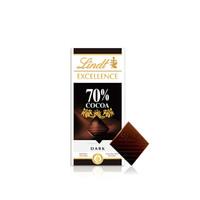 瑞士莲 进口 特醇排装50%70%78%85%90%99%海盐草莓薄荷可可黑巧克力 休闲零食 特醇70% 100克