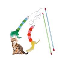 小花猫 逗猫棒 颜色随机 送发泡球